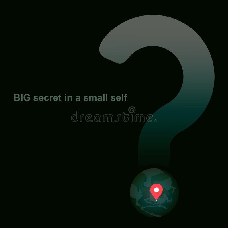 Großes Geheimnis in einem kleinen Selbst lizenzfreie abbildung