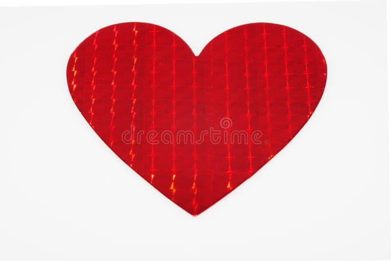 Großes glänzendes metallisches rotes Inneres stockfoto