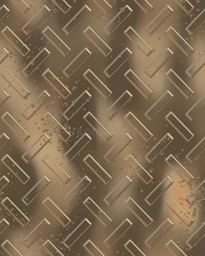 Großes Golddiamondplate lizenzfreie abbildung