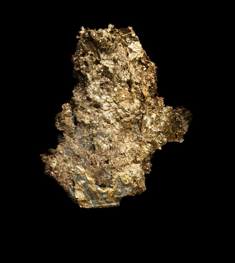 Großes Goldnugget lizenzfreie stockfotos