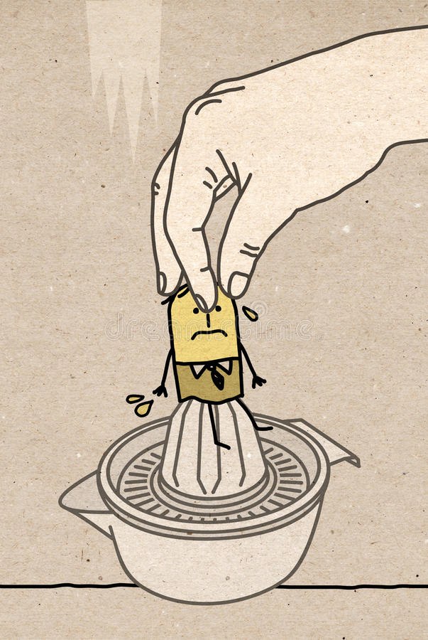 Großes hand- Zusammendrücken stock abbildung