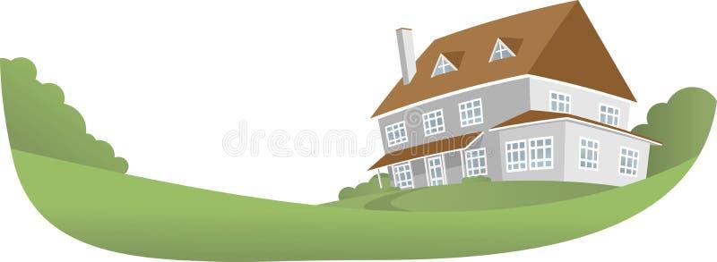 Großes Haus lizenzfreie abbildung