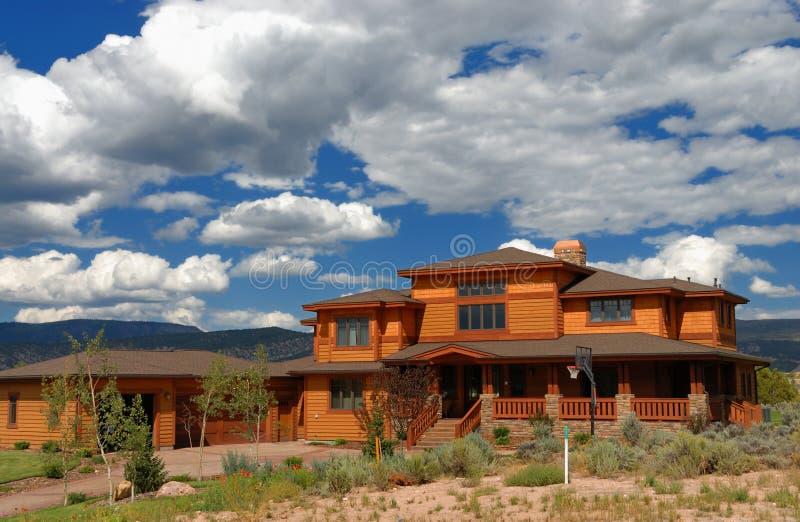 Großes Haus in Kolorado lizenzfreie stockfotografie
