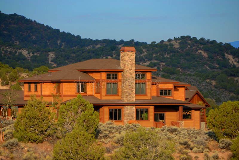 Großes Haus in Kolorado lizenzfreie stockbilder