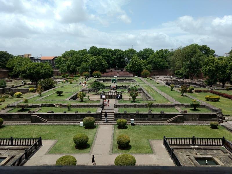 Großes hindisches Krieger Peshwa-Haus von innen stockbilder