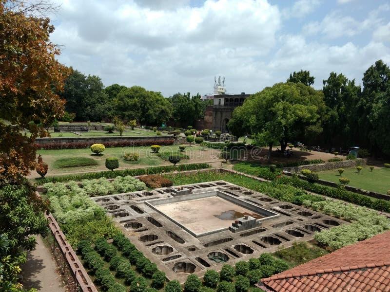 Großes hindisches Krieger Peshwa-Haus von innen lizenzfreies stockfoto