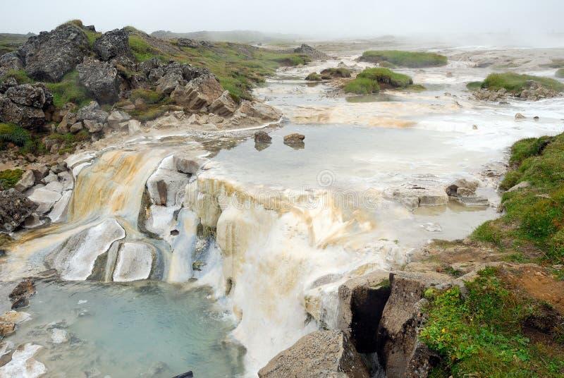 Großes Hveravellir geothermisch in Island stockfoto