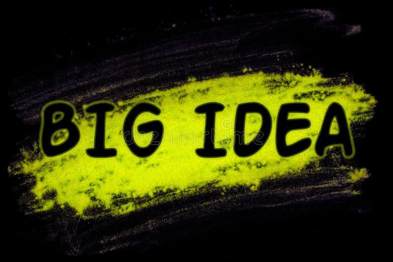 Großes Ideenwort mit Glühenpulver stock abbildung