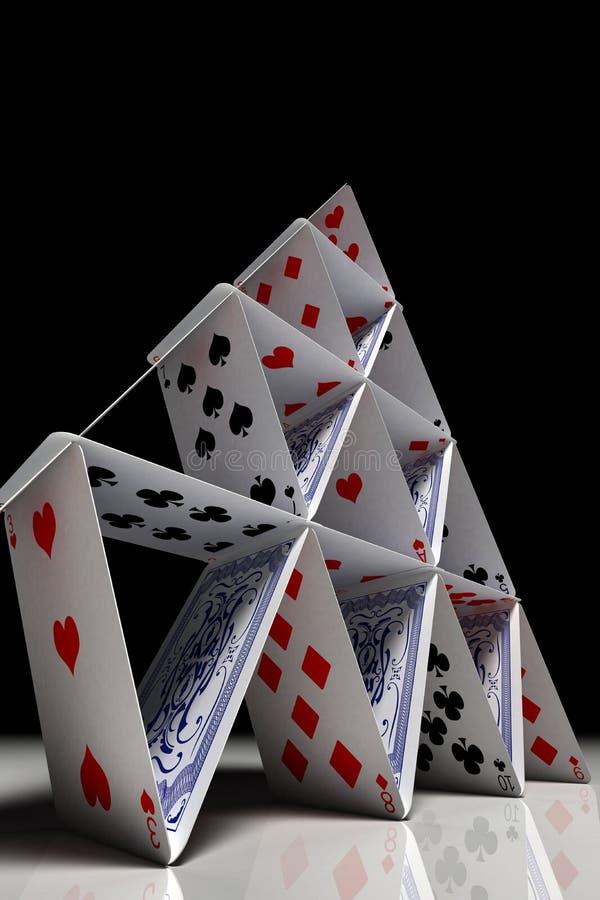 Großes Kartenhaus lizenzfreie stockfotografie