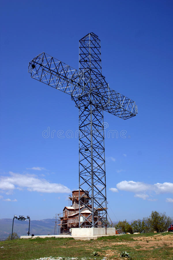 Großes Kreuz lizenzfreie stockfotos