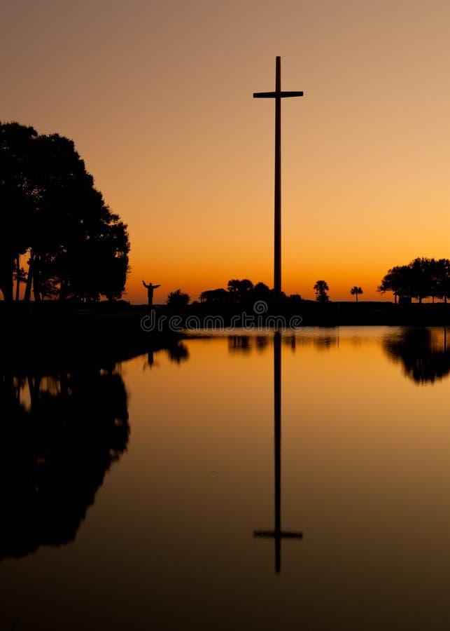 Großes Kreuz von Str. Augustine lizenzfreies stockfoto