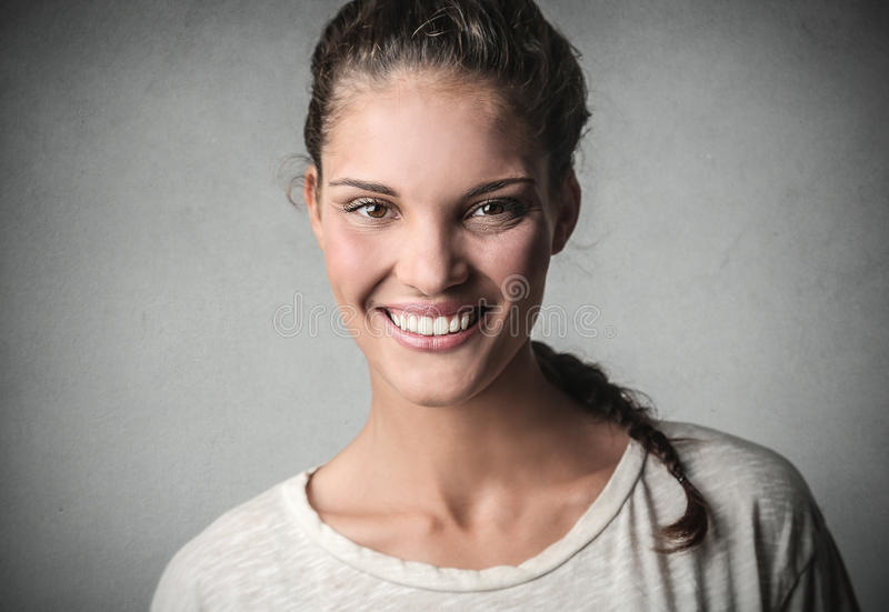 Großes Lächeln lizenzfreies stockfoto