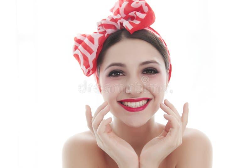 Großes Lächelnmädchen lizenzfreie stockbilder