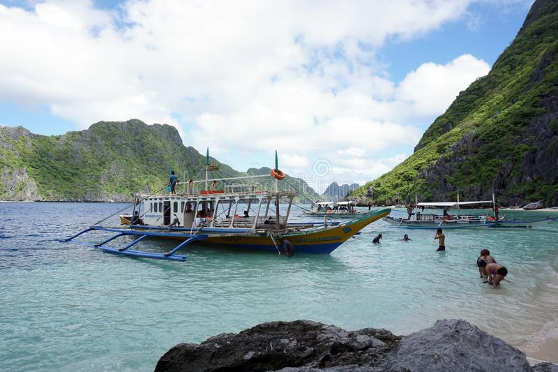 Großes Lagunen-EL Nido Palawan lizenzfreie stockfotos