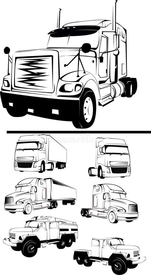 Großes LKW-Set stockbild