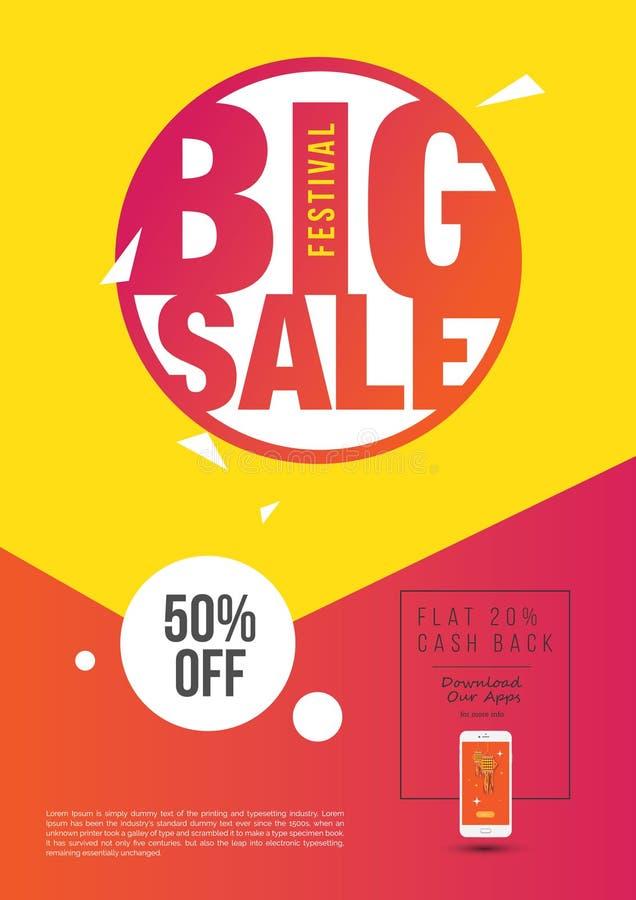 Großes Plakat des Verkaufs-A4 vektor abbildung