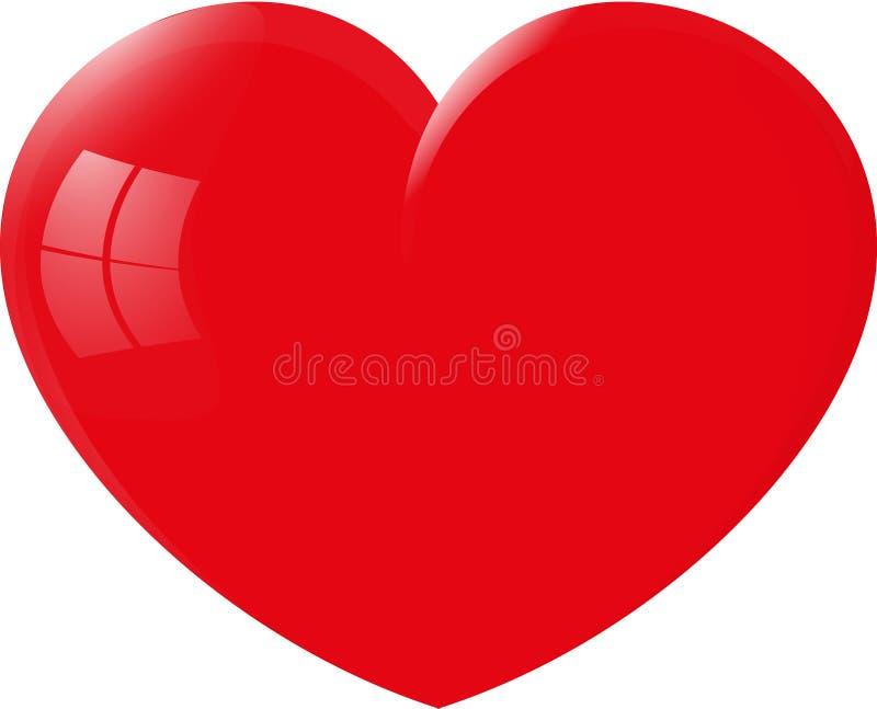 Großes rotes Herz lizenzfreies stockfoto
