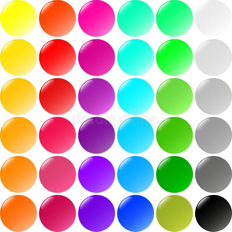 Großes Set runde Tasten vektor abbildung