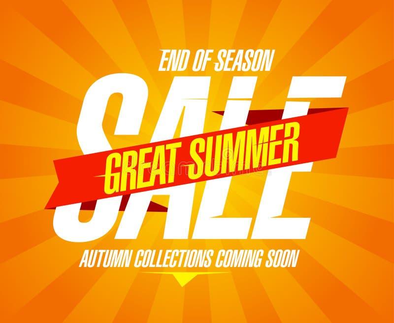 Großes Sommerschlussverkaufdesign