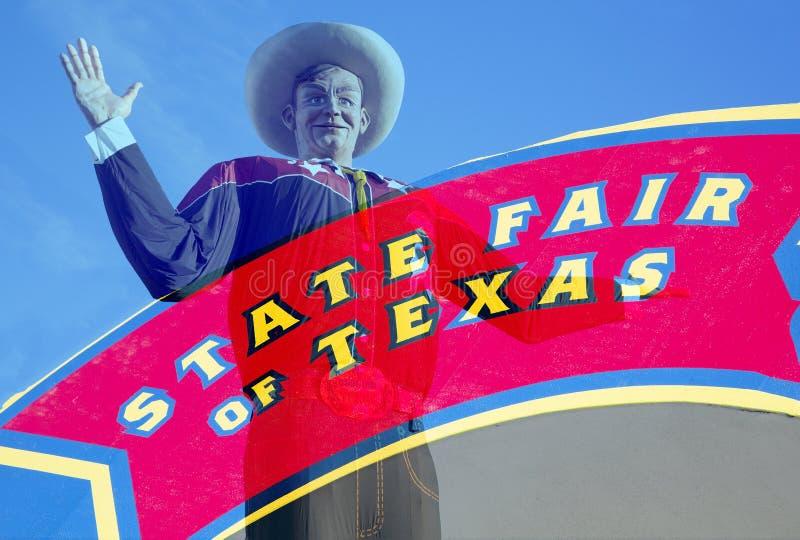 Großes Tex und Jahrmarkt von Texas-Zeichen lizenzfreies stockfoto
