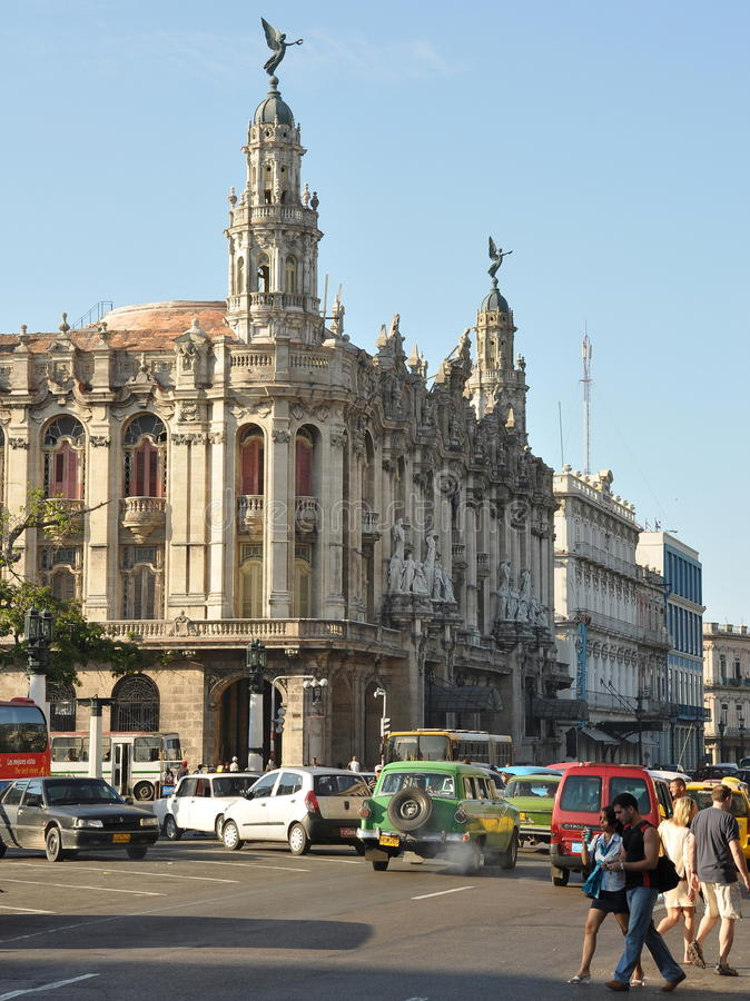 Großes Theater von Havana stockfoto