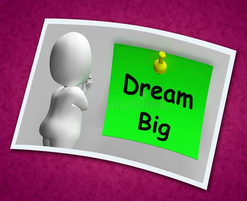 Großes Traumfoto bedeutet Ehrgeiz-Zukunft-Hoffnung stock abbildung