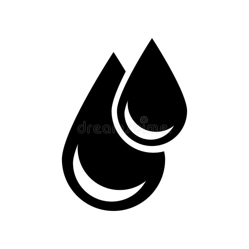 Großes und kleines Tropfenikonenvektorzeichen und -symbol lokalisiert auf Whit lizenzfreie abbildung