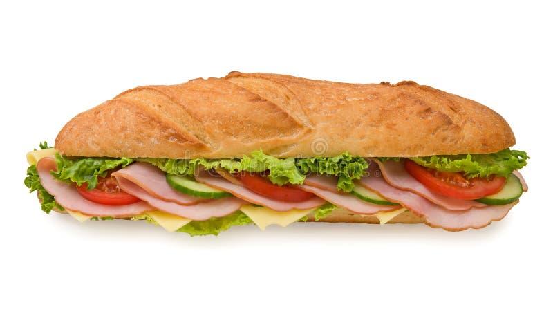 Großes Unterwasserextrasandwich mit Schinken und Käse lizenzfreies stockfoto