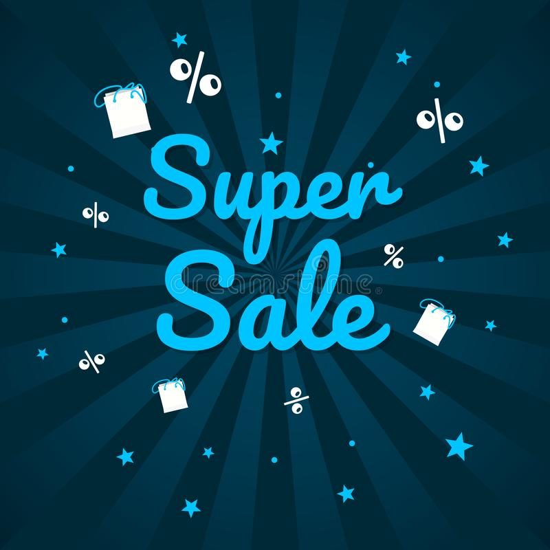 Großes Verkaufs-Wochenende, Sonderangebotfahne bis zu 50 weg Auch im corel abgehobenen Betrag stock abbildung