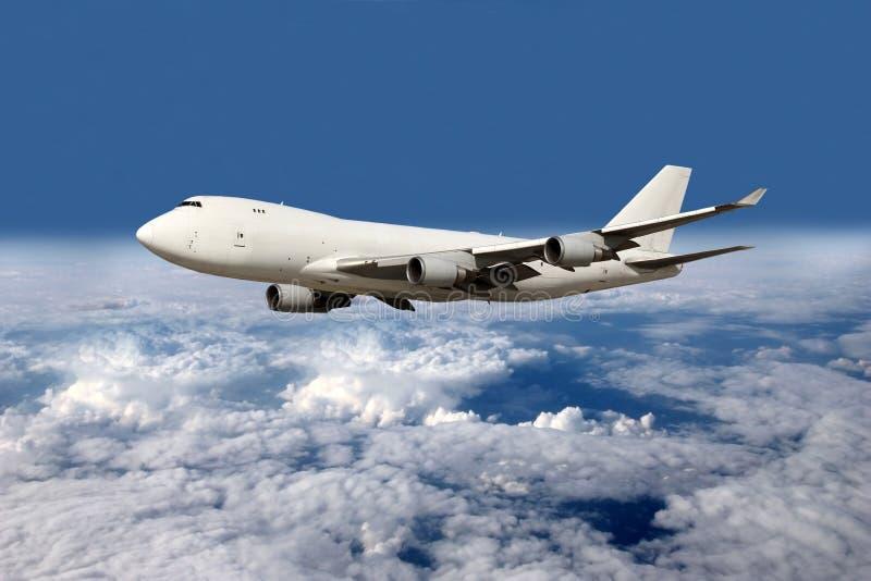 Großes weißes Flugzeug stockfotografie