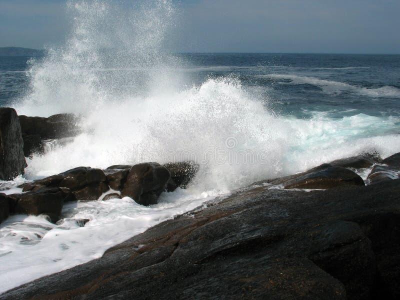 Großes Wellen-Spritzen Stockfoto