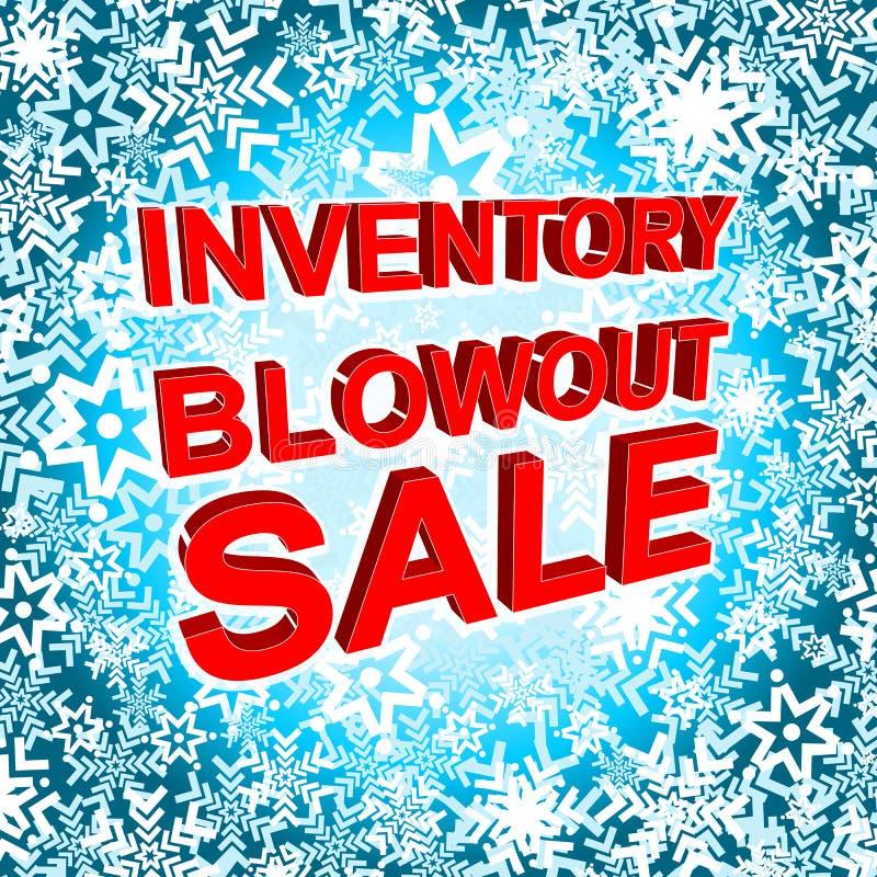 Großes Winterschlussverkaufplakat mit INVENTAR-AUSBLASEN-VERKAUFS-Text Werbungsvektorfahne vektor abbildung