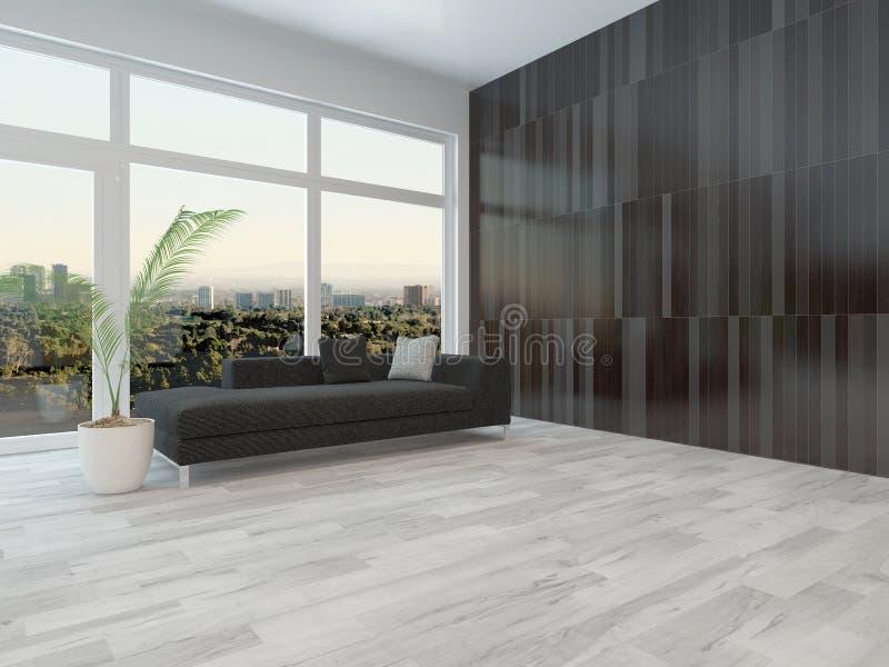 Großes Wohnungswohnzimmer lizenzfreie abbildung