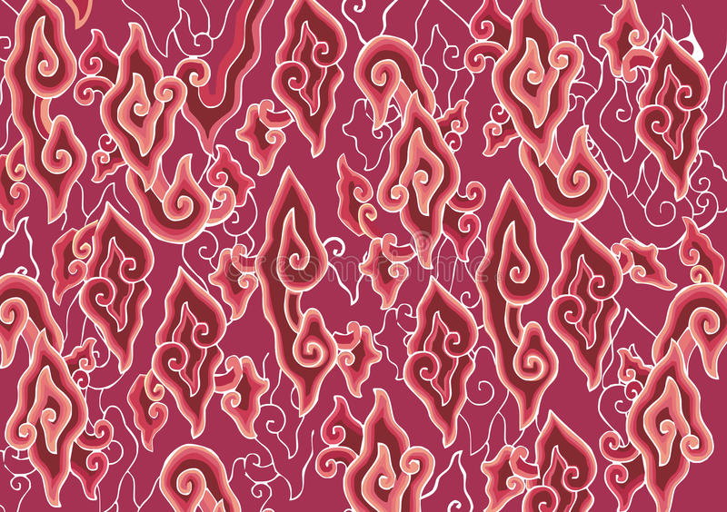 GroßMendung Batik-Muster vektor abbildung