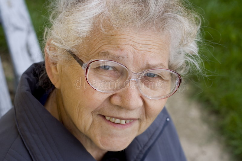 Großmutter stockfotografie