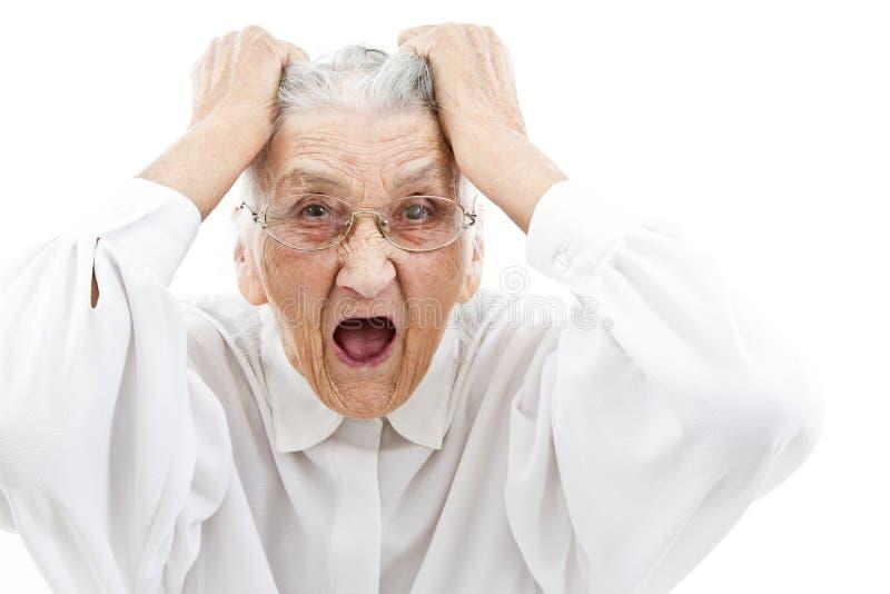 neurotische Großmutter lizenzfreie stockfotos