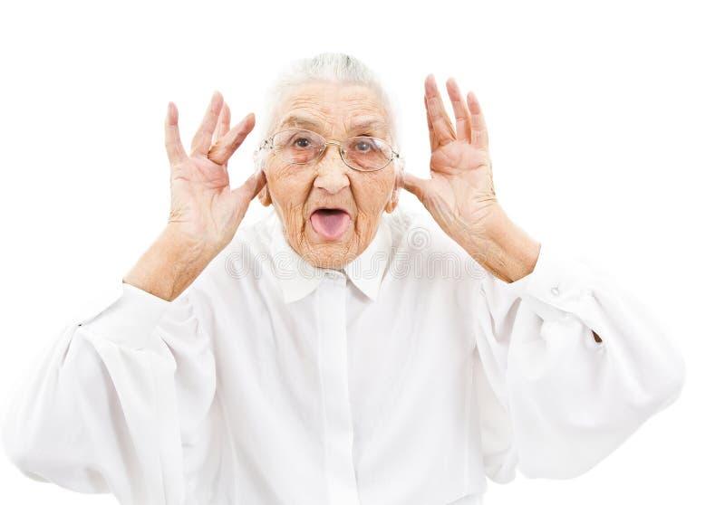 Lustige Großmutter stockfoto