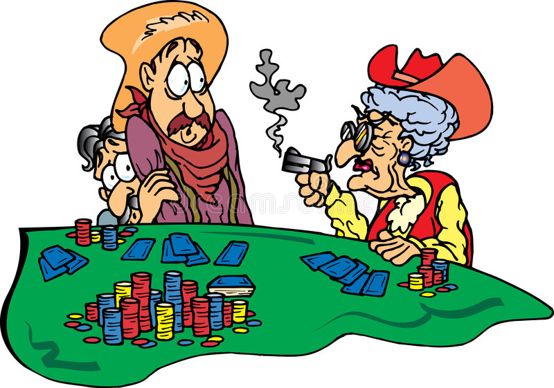 Großmutter am Schürhaken-Spiel stock abbildung