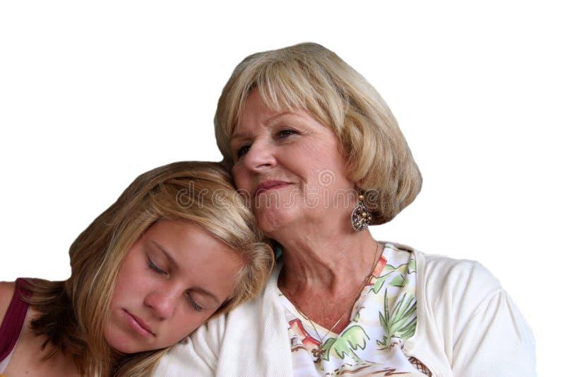 Großmutter und Enkelin lizenzfreie stockfotos