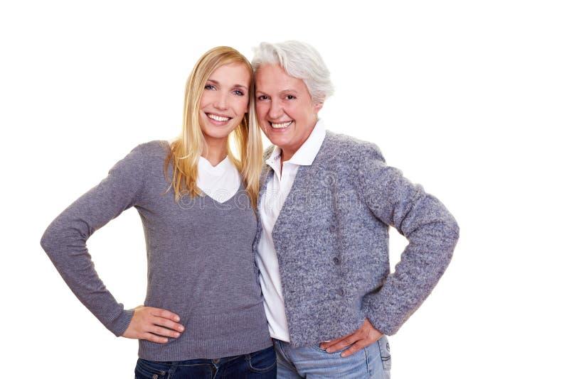 Großmutter und Enkelkind stockfoto