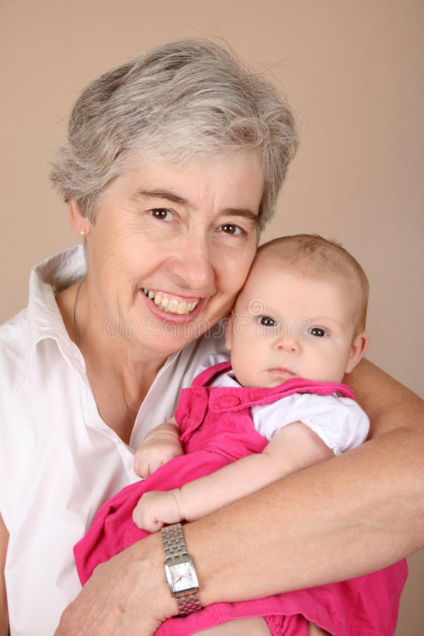 Großmutter und grandaughter lizenzfreie stockbilder