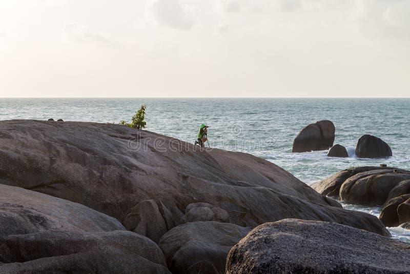 Großmutter-und Großvater-Felsen - Samui in Lamai-Strand Thailan stockfotos