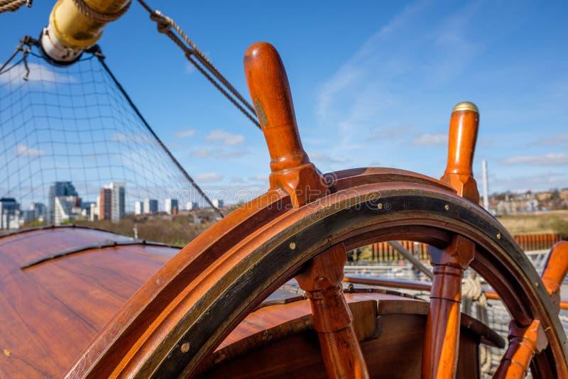 Großsegler Glenlee vom Flussufer-Museum, Glasgow Museum des Transportes lizenzfreie stockbilder