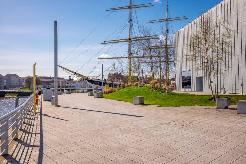 Großsegler Glenlee vom Flussufer-Museum, Glasgow Museum des Transportes lizenzfreies stockbild