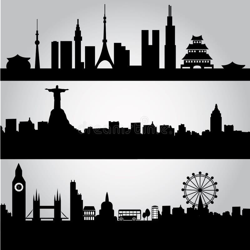 Großstädte stock abbildung