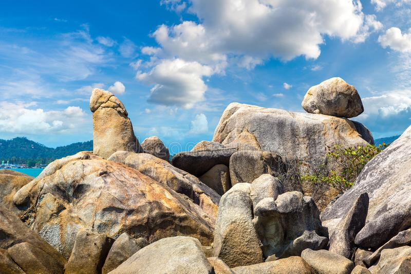 Großväterlicher Felsen auf Samui lizenzfreies stockfoto