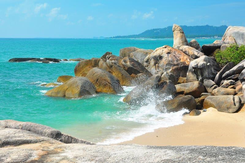 Großväterlicher Felsen bei Koh Samui, Thailand stockfoto