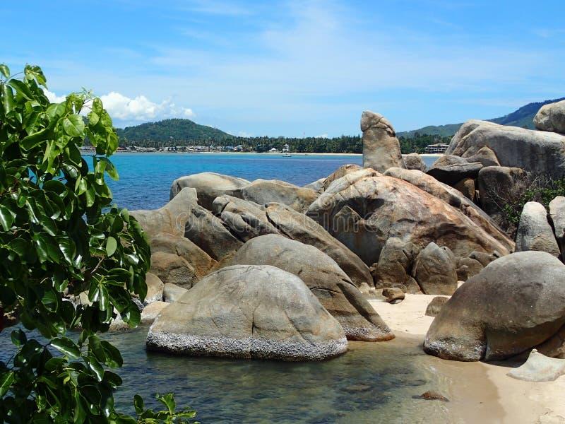 Großväterlicher Felsen Koh Samui - Thailand Asien lizenzfreie stockfotografie