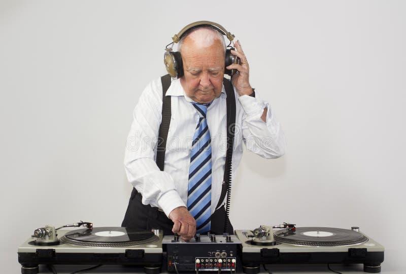 Großvater DJ lizenzfreies stockfoto