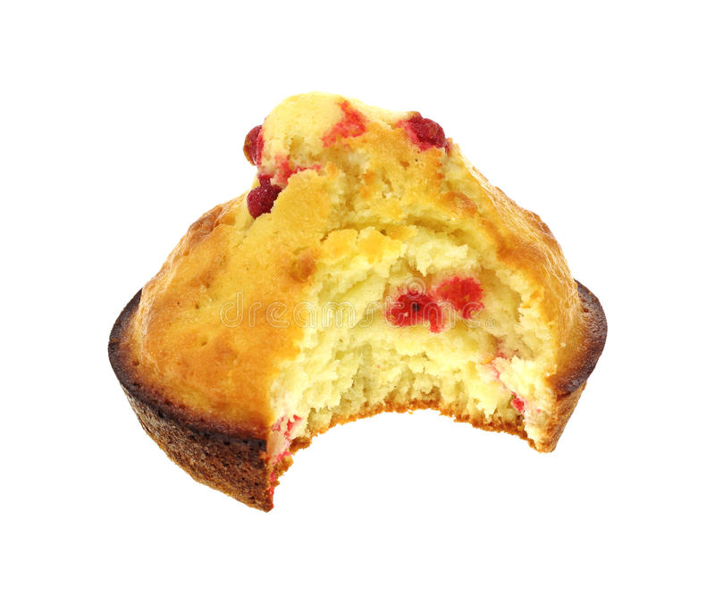 Großzügiges Bissen-Himbeere-Muffin lizenzfreies stockfoto